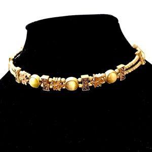 3 For $15 Vintage Anne Klein Gold Enamel Choker
